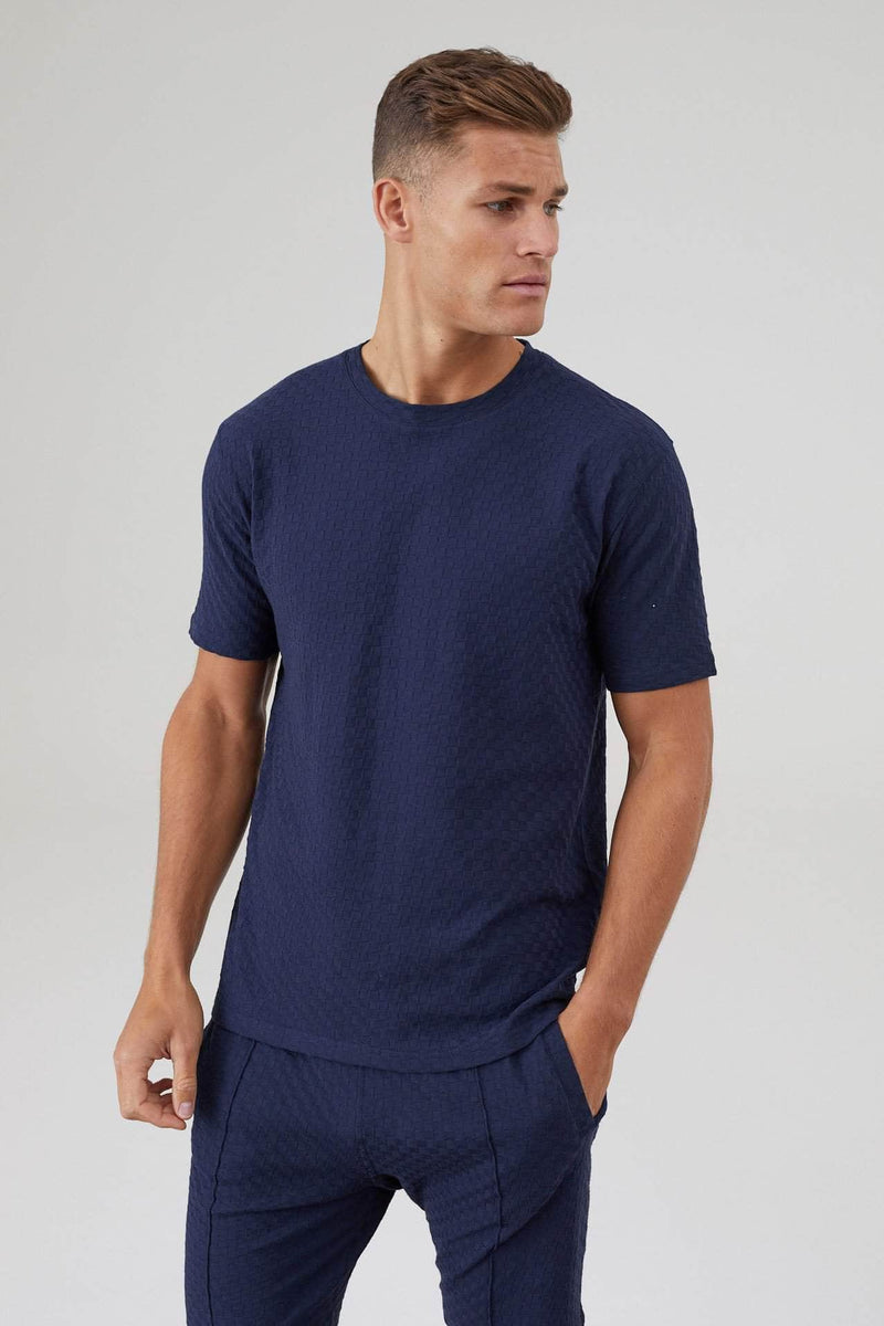 Ainsdale Twin Set T-Shirt - Navy