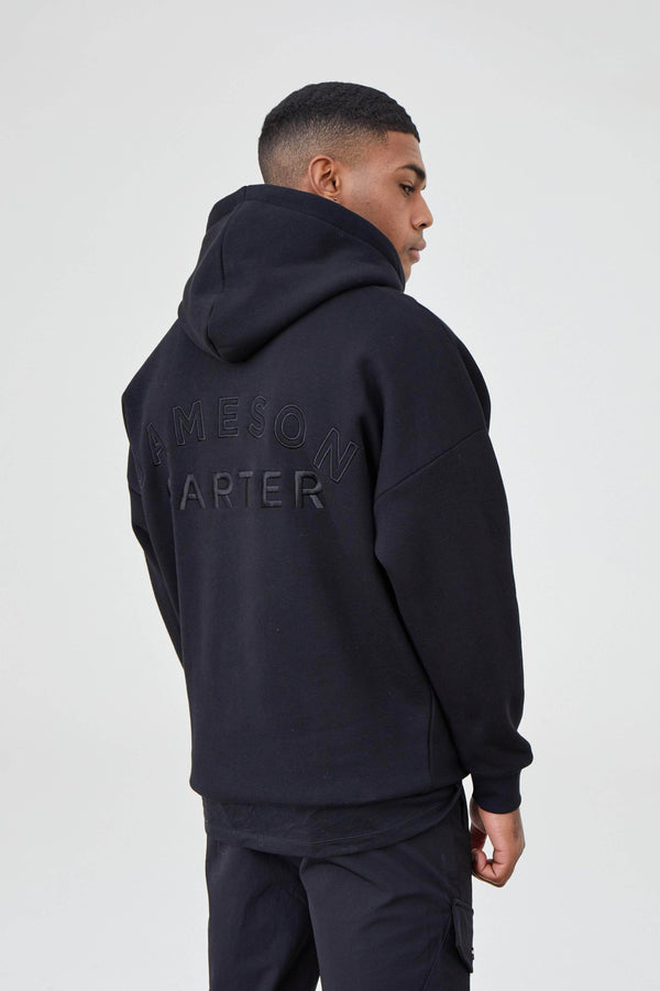 Jameson Carter Hoodies Arny Oversized Hoodie - Black