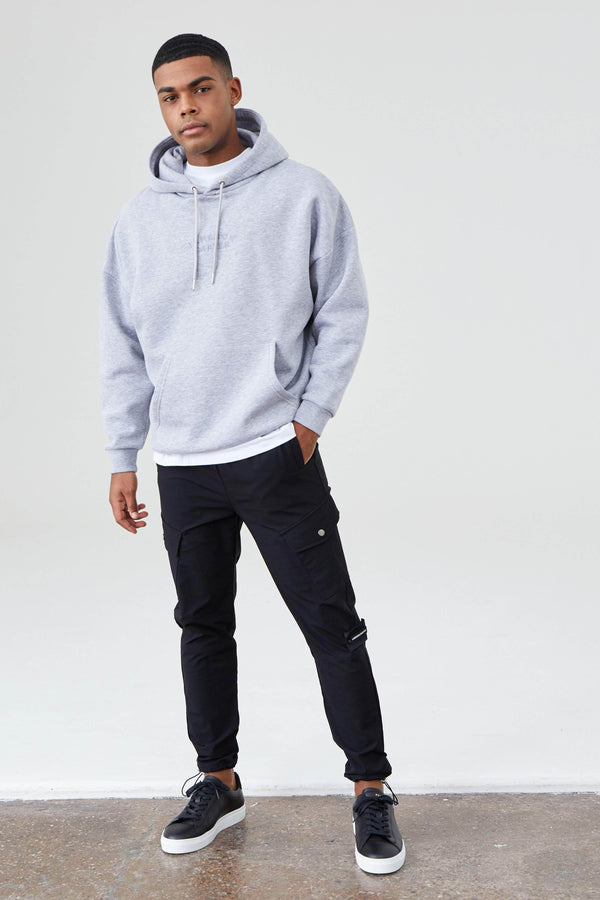 Jameson Carter Hoodies Arny Oversized Hoodie - Grey Marl