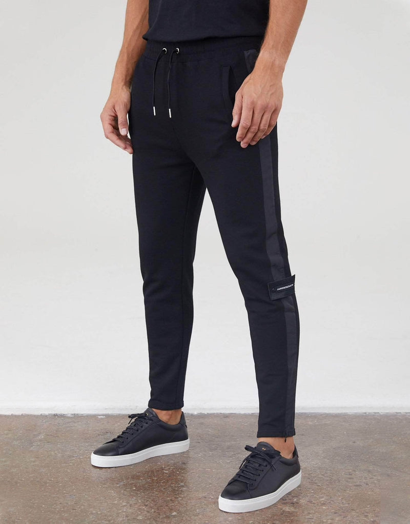 Jameson Carter Tracksuit Pants Contrast Side Stripe Track Pant - Black
