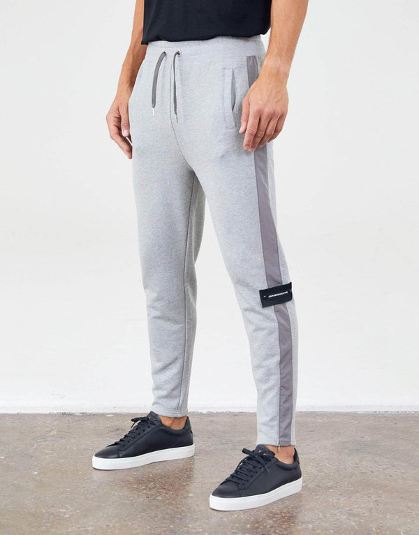 Jameson Carter Tracksuit Pants Contrast Side Stripe Track Pant - Grey