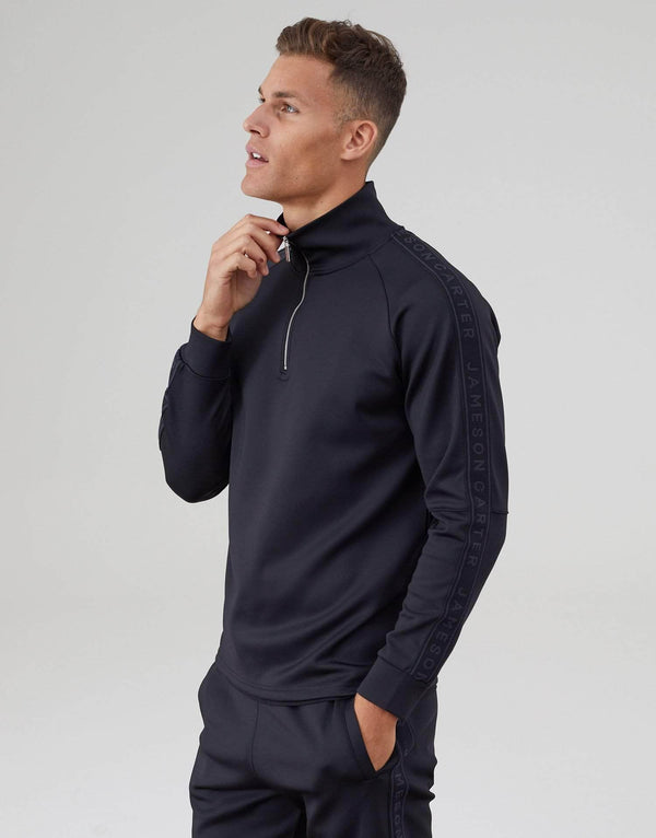 Cooper Poly Twin Set Quarter Zip - Black