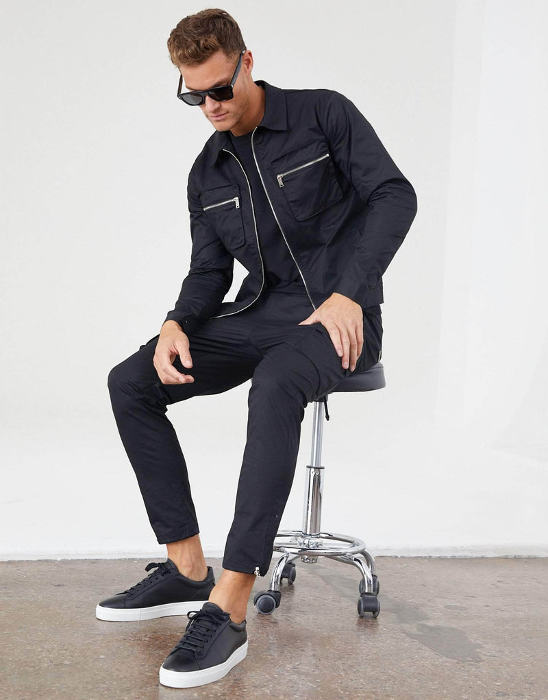 Jameson Carter Tracksuit Jackets Cornell Cargo Jacket - Black