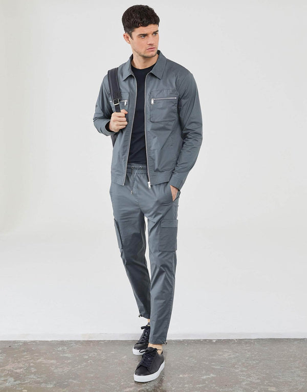 Jameson Carter Tracksuit Pants Cornell Cargo Pant - Pewter
