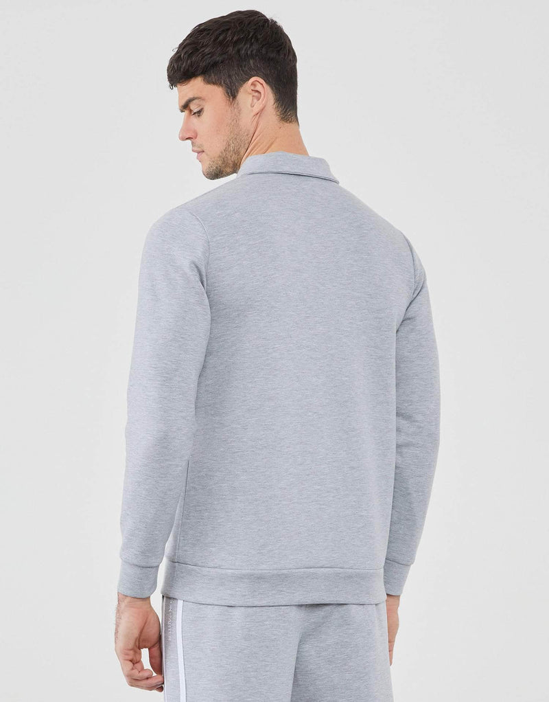 Jameson Carter Hoodies Delaney Quarter Zip Polo - Grey