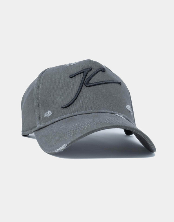 Jameson Carter Hats Distressed JC Full Trucker Cap - Carbon