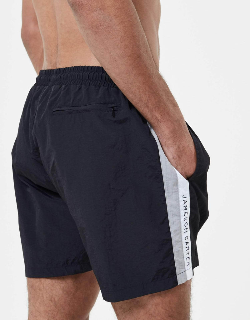 Dual Panel Swim Shorts - Black