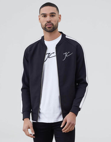 Jameson Carter Jackets, sale Dual Stripe Poly Bomber - Black