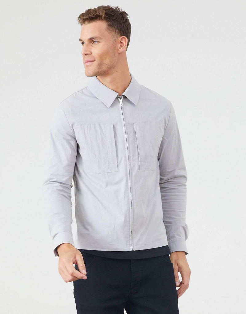 Jameson Carter Overshirt Earlham Overshirt - Silver Grey