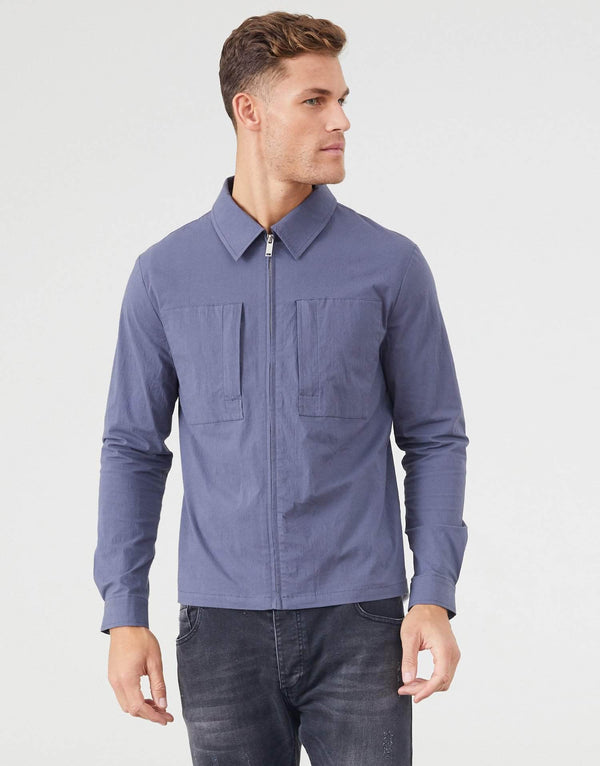 Jameson Carter Overshirt Earlham Overshirt - Slate Grey