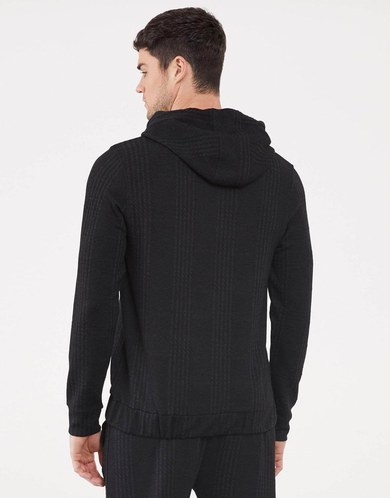 Jameson Carter Hoodies Essence Blackout Check Hoodie