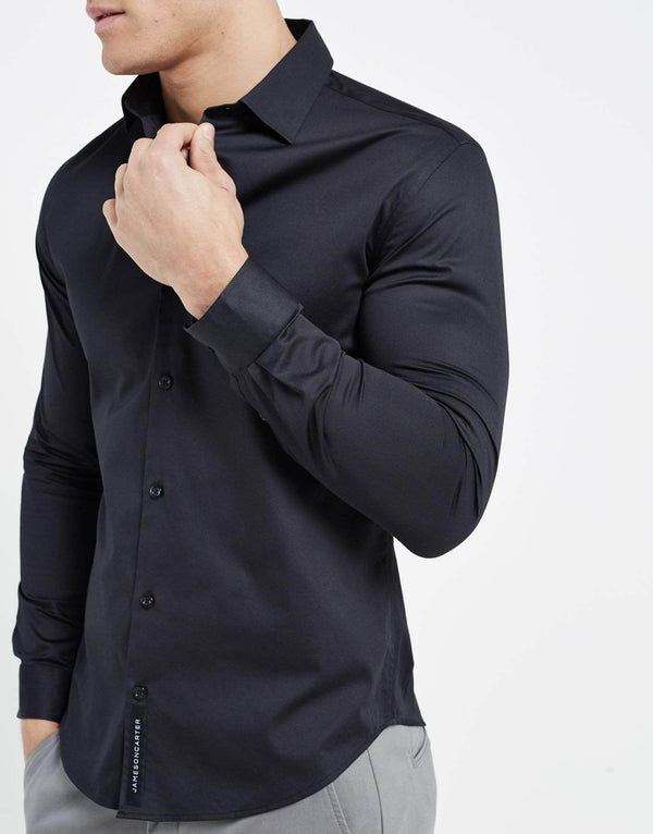 Essence Long Sleeve Shirt - Black