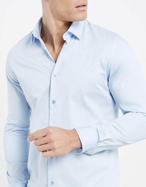Essence Long Sleeve Shirt - Sky Blue