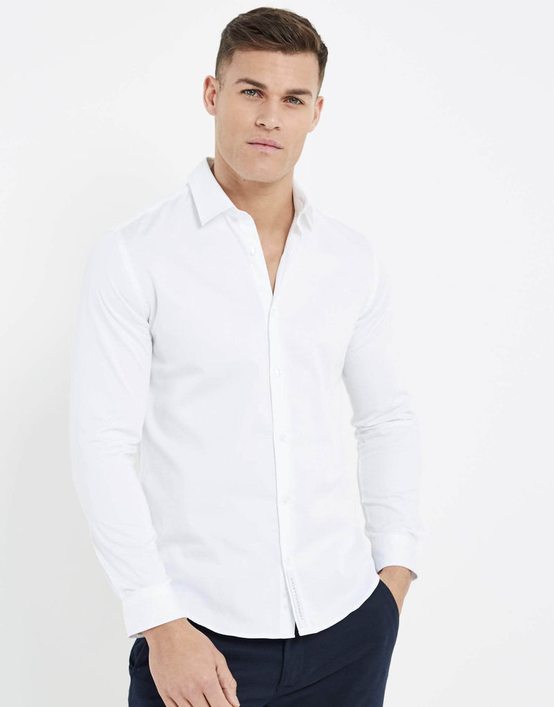 Essence Long Sleeve Shirt - White