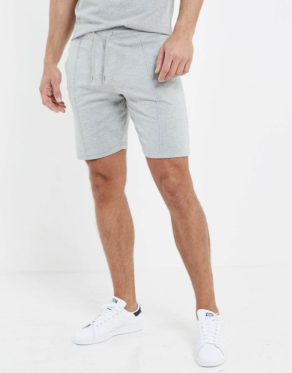 Essence Pin Stripe Morrissey Shorts - Grey