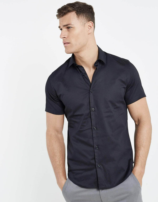 Essence Short Sleeve Shirt - Black