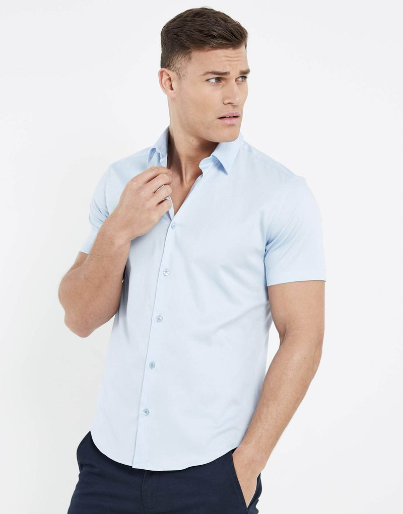 Essence Short Sleeve Shirt - Sky Blue