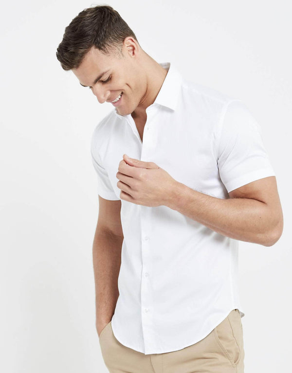 Essence Short Sleeve Shirt - White