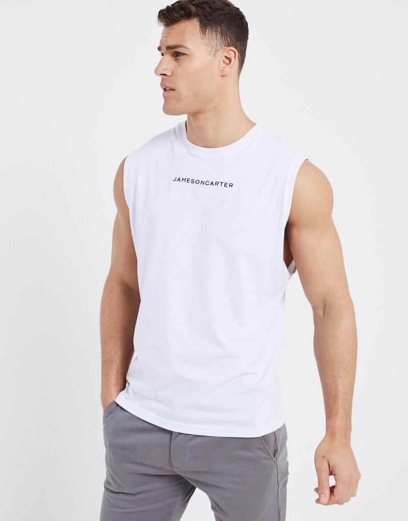 Exchange Sleeveless T Shirt - White