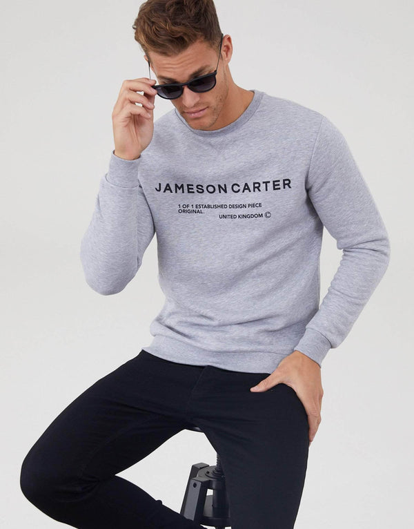 Jameson Carter Men Hallows Jumper - Grey Marl
