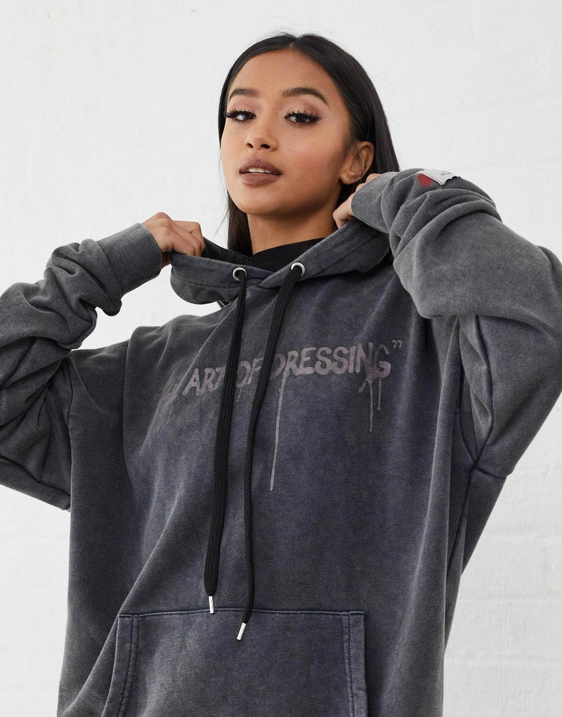 Harris Oversized Hoodie - Acid Wash