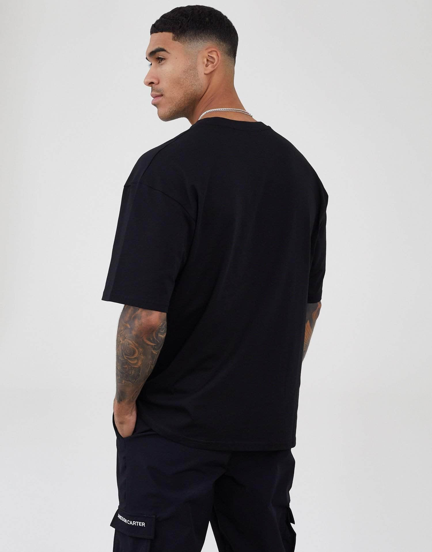 Jameson Carter T-Shirts, not-sale Harris Oversized T-Shirt - Black