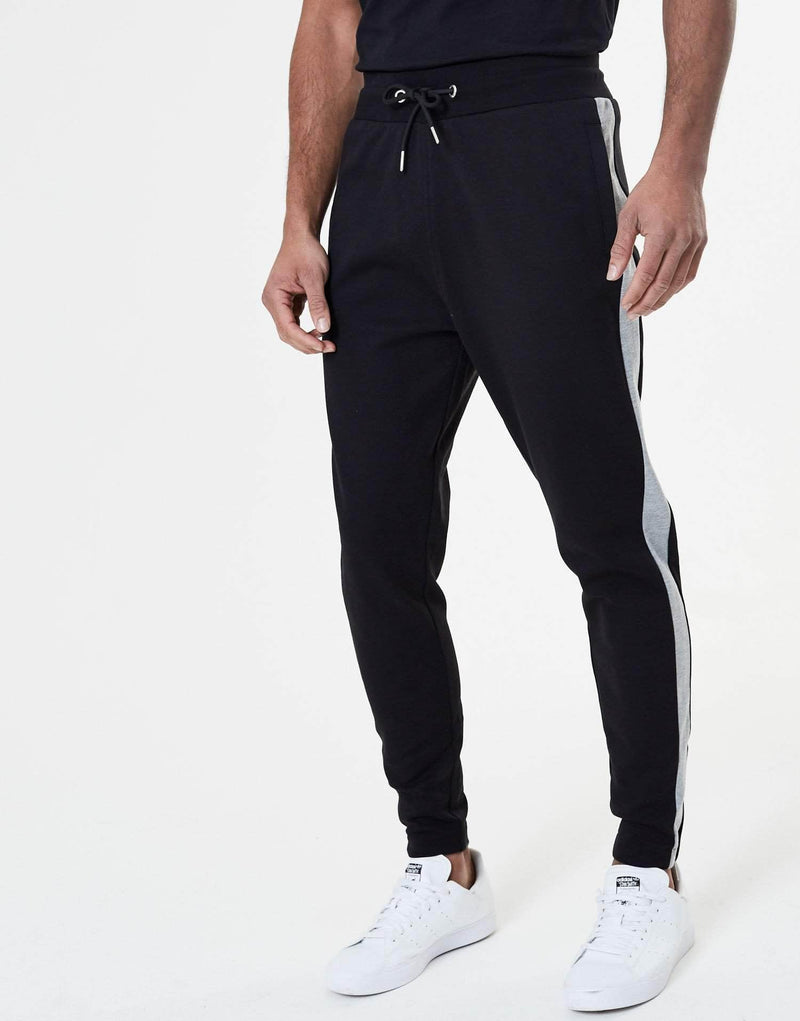 Henning Essence Panel Pants - Black & Grey