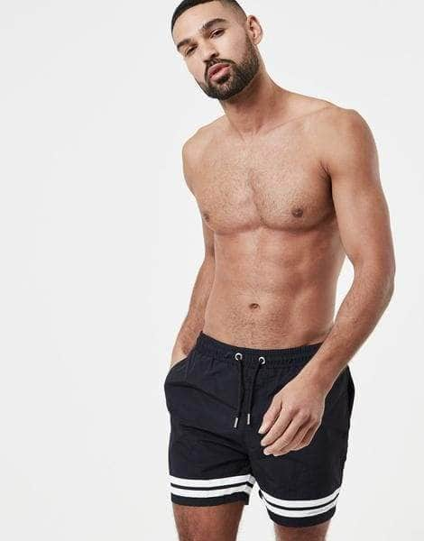 Hoop Swim Shorts - Black