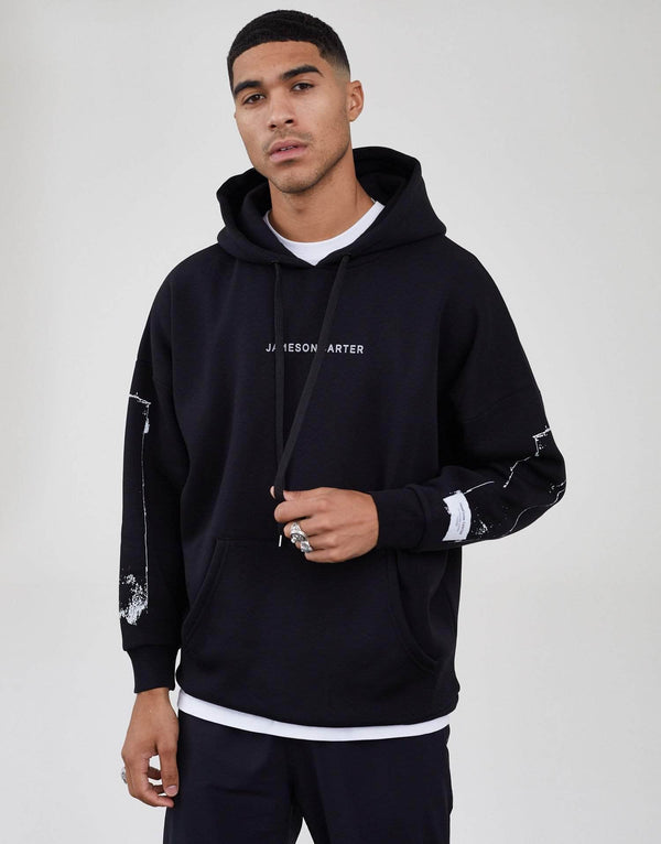 Jameson Carter Men Hope Oversized Hoodie - Black