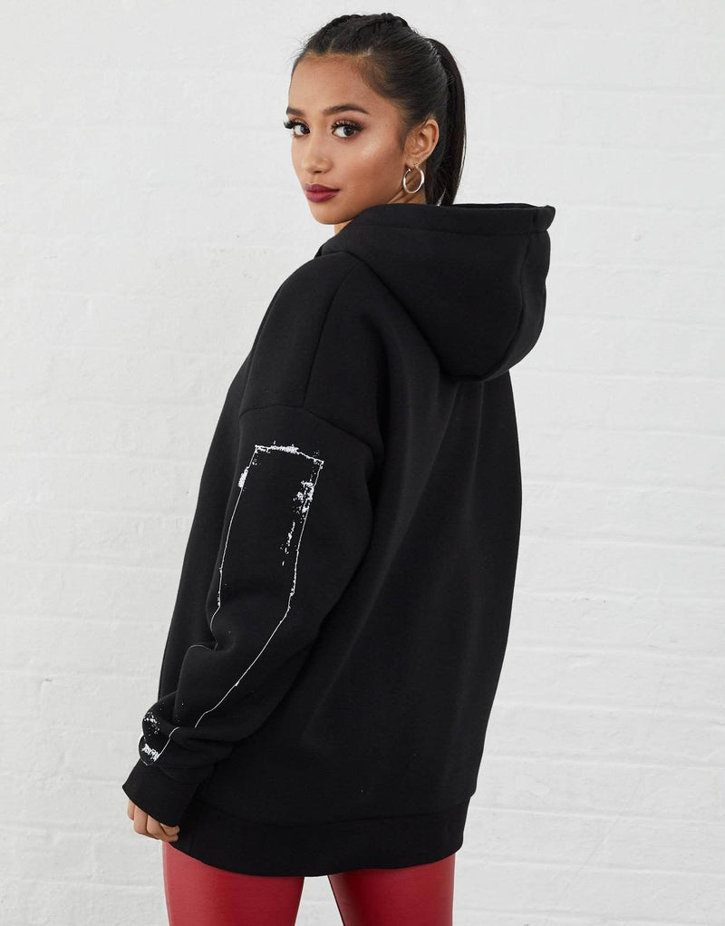 Jameson Carter Women  Hope Oversized Hoodie - Black