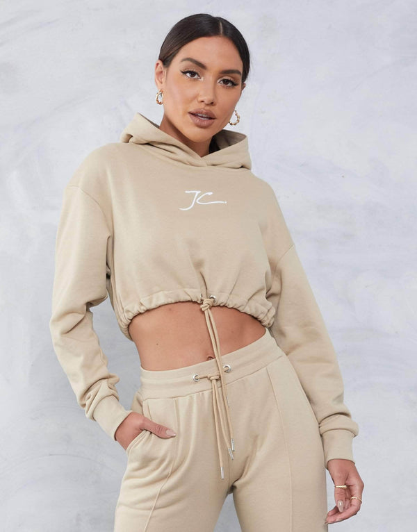 Irwell Cropped Hoodie - Stone