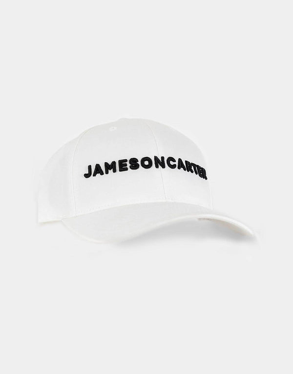 Jameson Carter Embroidery Cap - White & Black