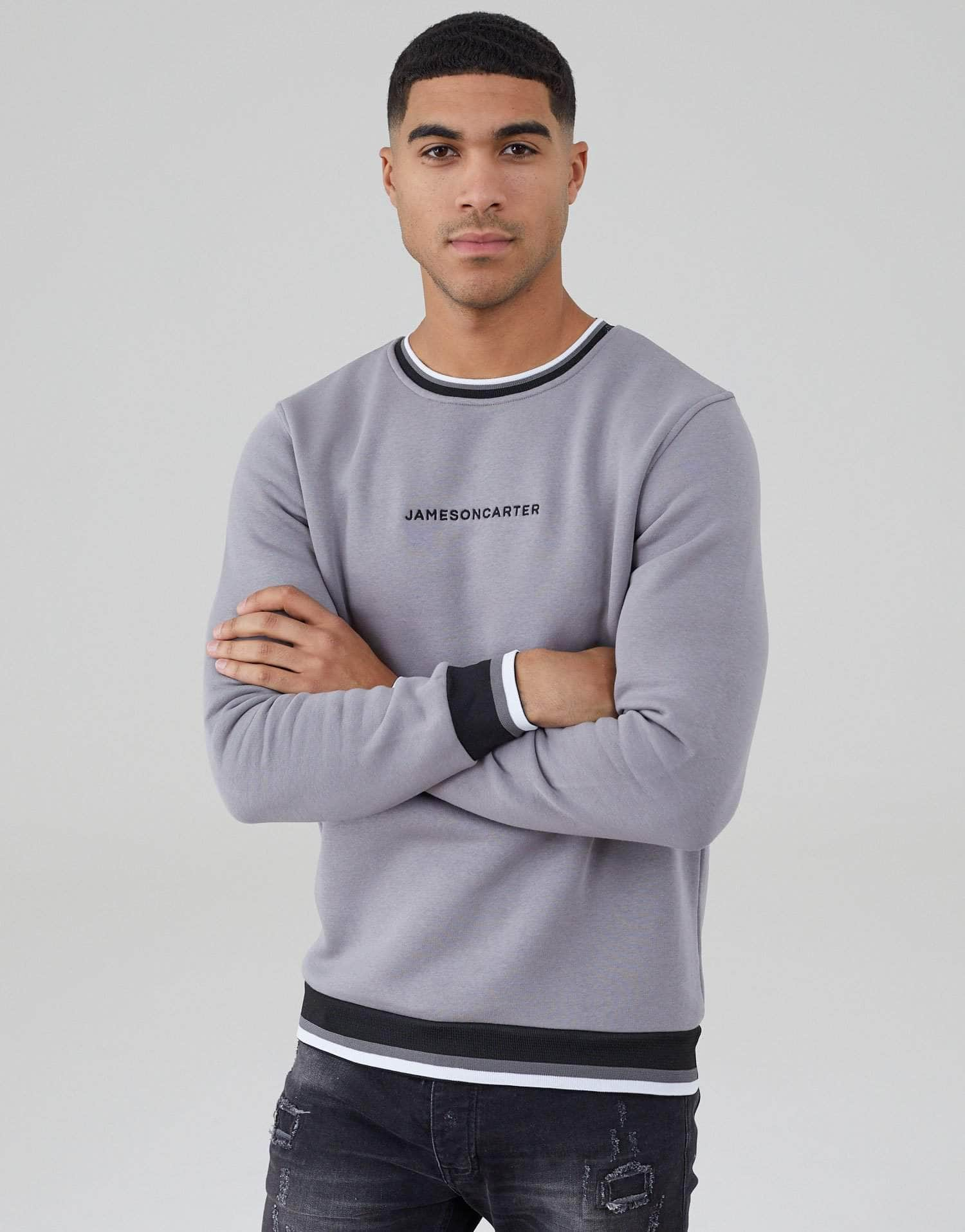 Jameson Carter Jumper, sale Jameson Carter Ringer Jumper - Silver