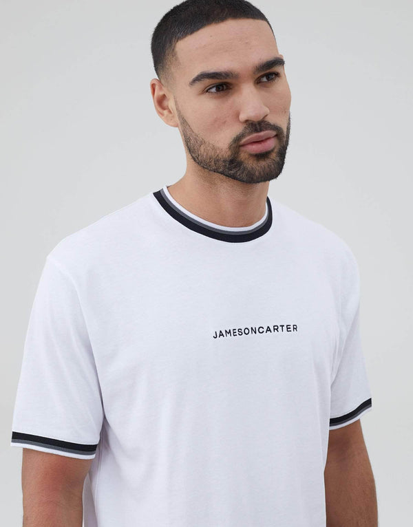 Jameson Carter T-Shirts, sale Jameson Carter Ringer T Shirt - White
