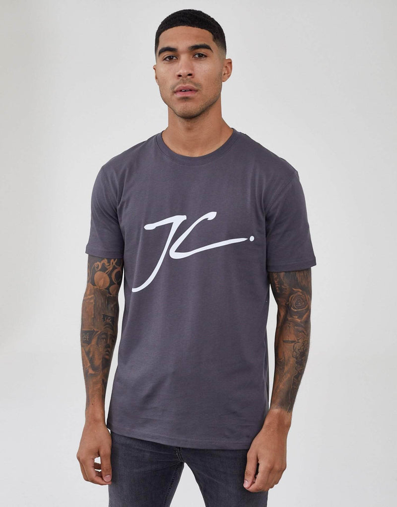 JC Block T Shirt - Carbon