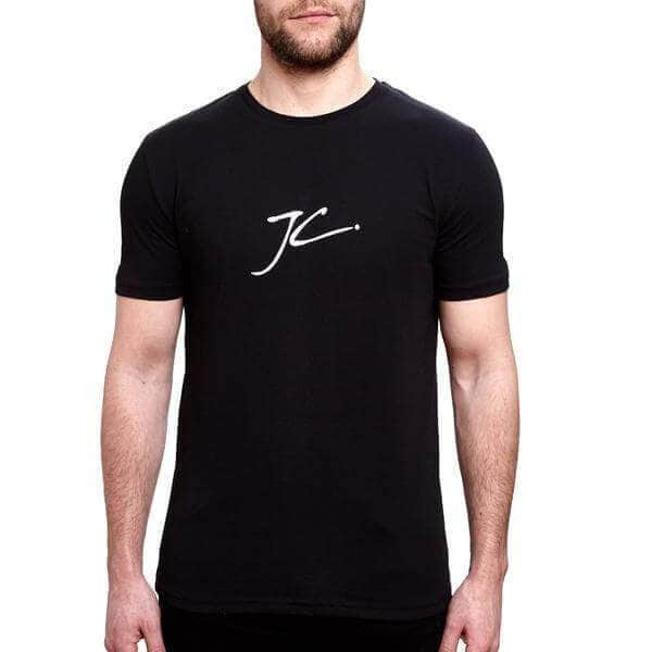 JC Half Stripe T Shirt - Black