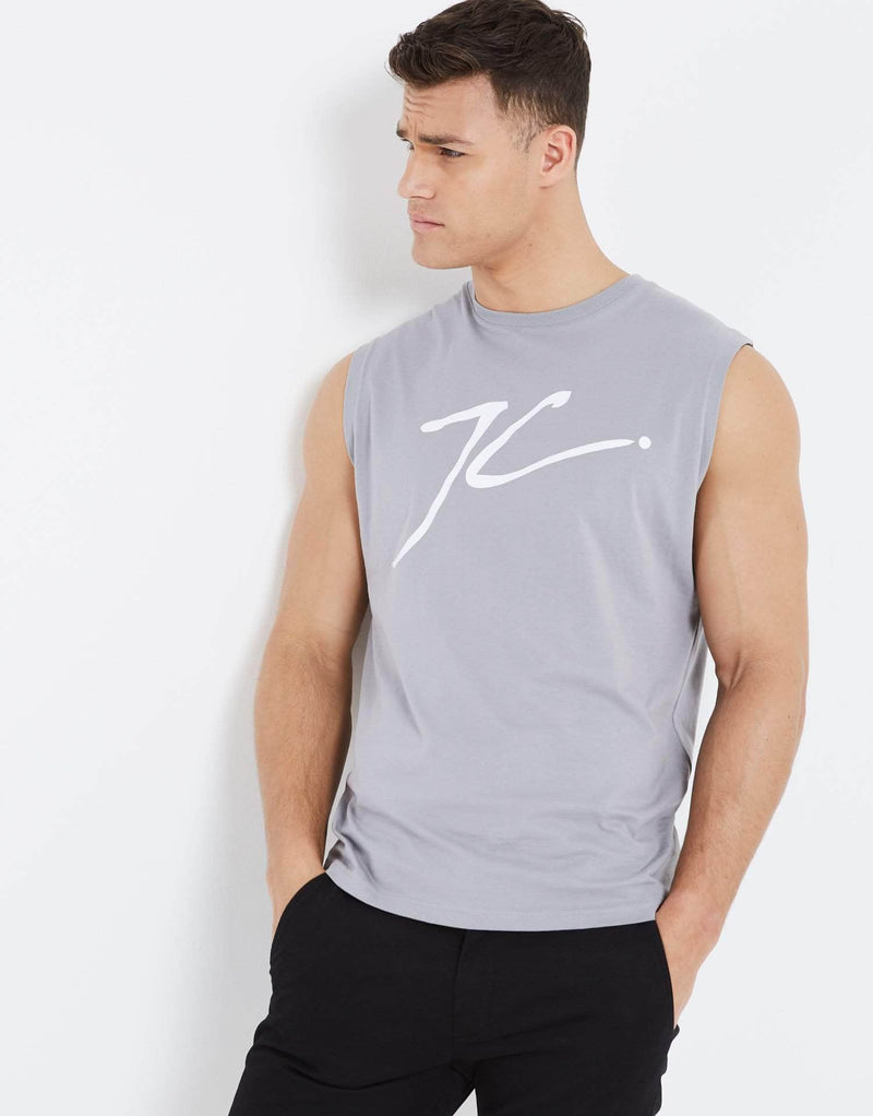 JC Sleeveless T Shirt - Silver