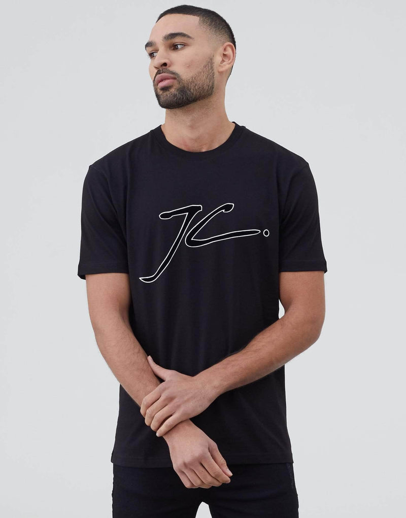 JC Velour Flock T Shirt - Black