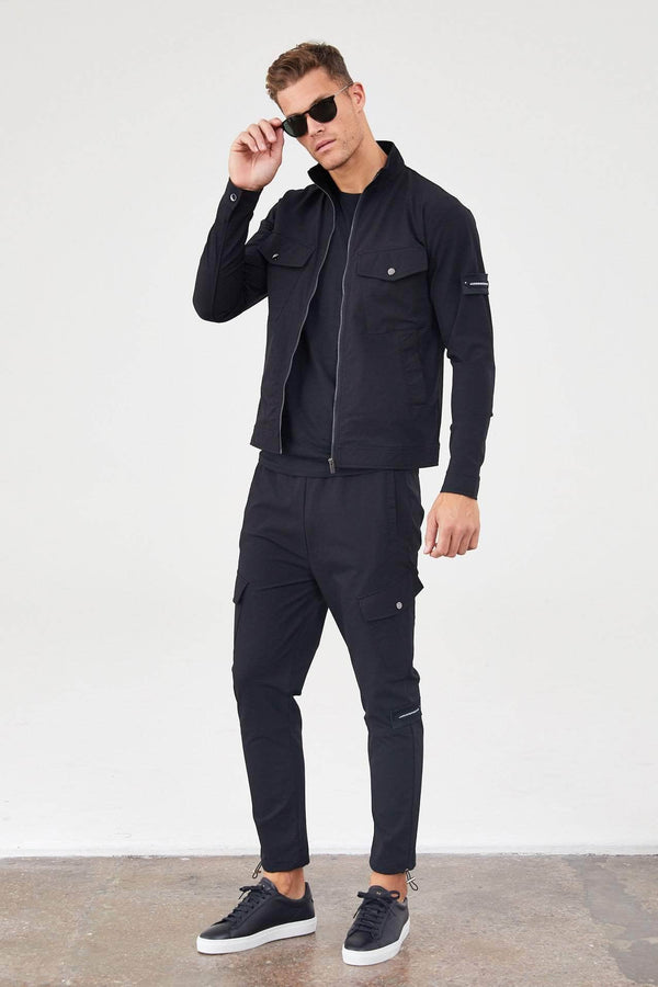 Jameson Carter Tracksuit Jackets Lancaster Jacket - Black