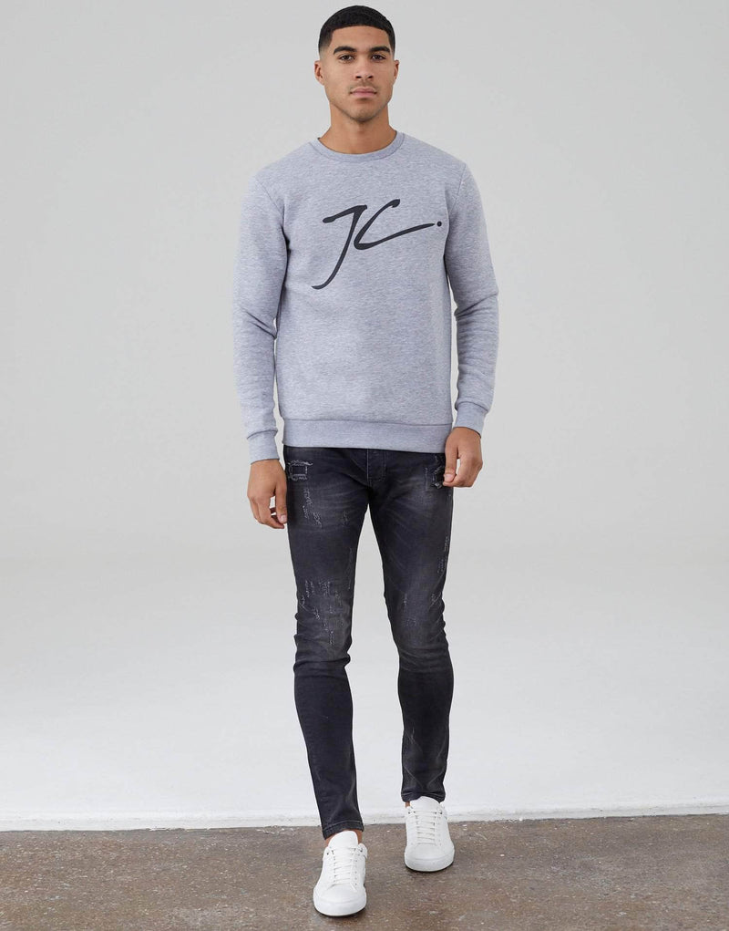 Jameson Carter Men Large JC Jumper - Grey Marl