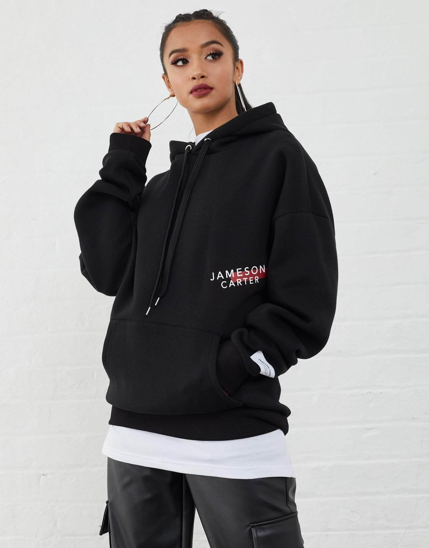 Jameson Carter Hoodies, not-sale Malone Oversized Hoodie - Black