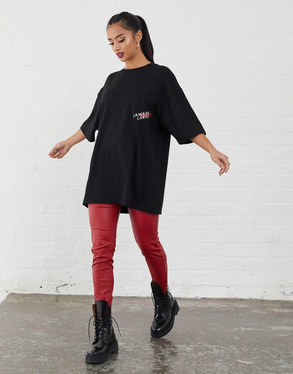 Malone Oversized T-Shirt - Black