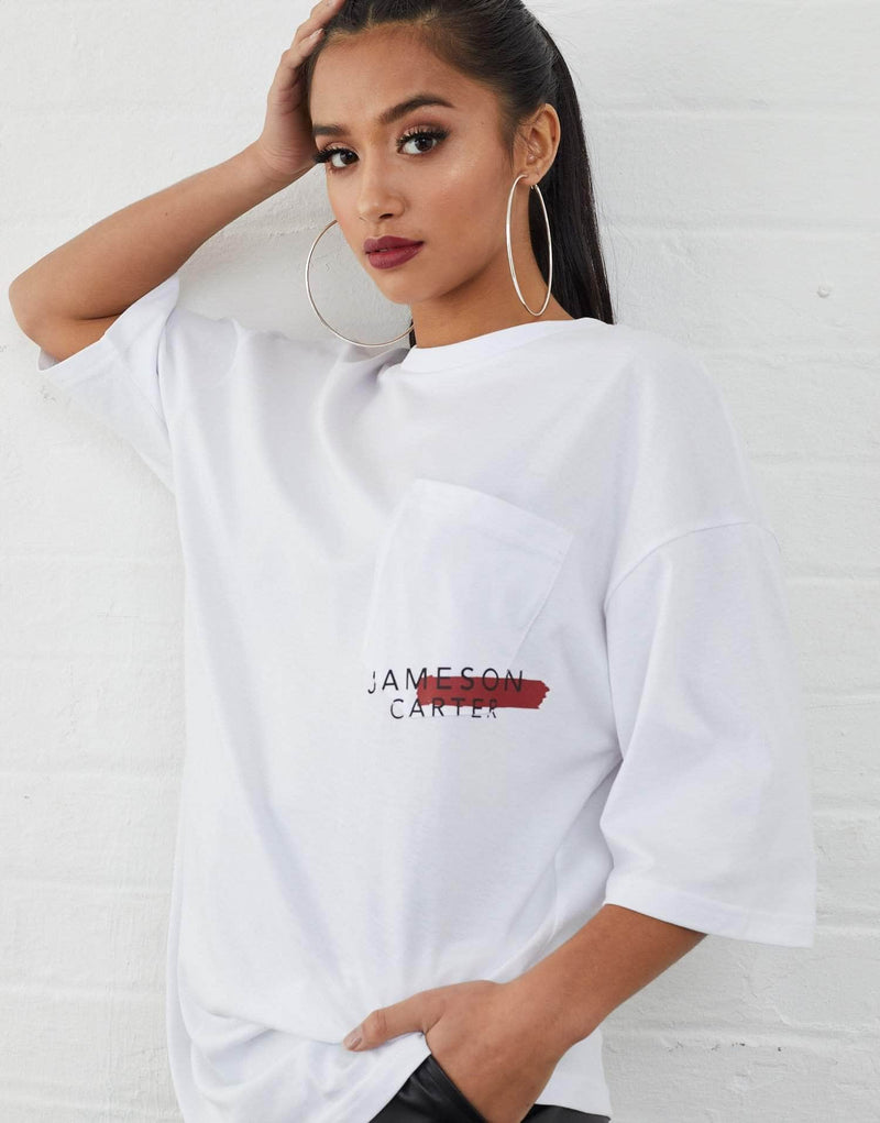 Malone Oversized T-Shirt - White