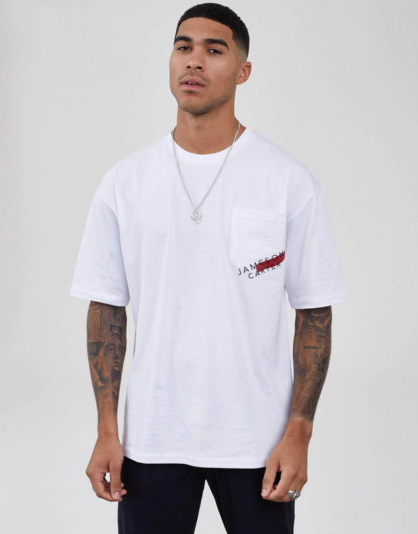 Jameson Carter Men Malone Oversized T-Shirt - White
