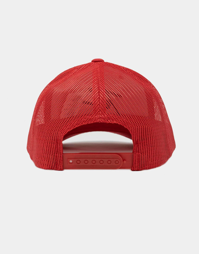 Mesh Trucker Cap - Red & Black