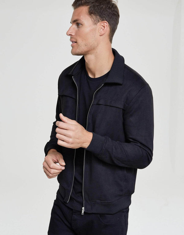 Jameson Carter Jackets Morreno Suede Jacket - Black