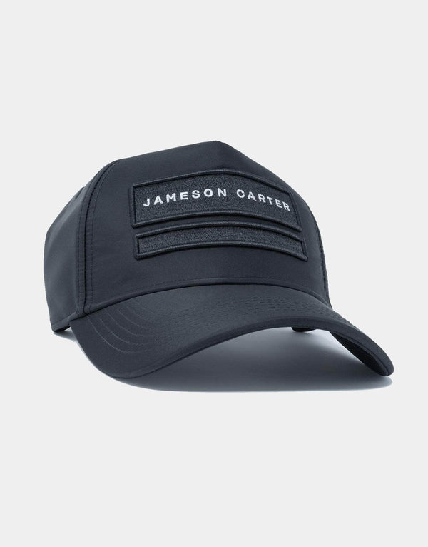 Jameson Carter Hats Nylon Two Box Trucker Cap - Black