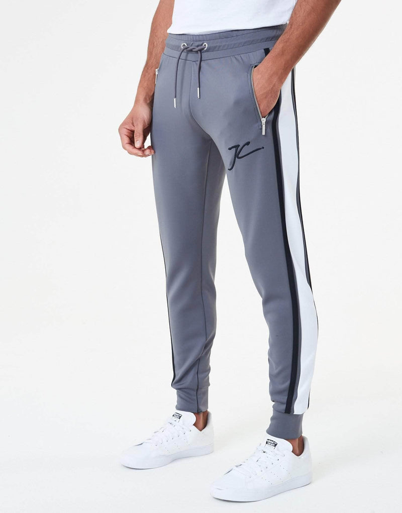 Oxley Poly Tracksuit Pants - Carbon Grey