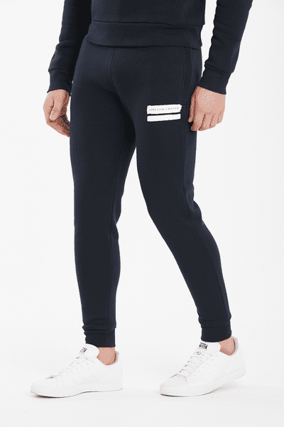 Paint Stripe Jogger Pants - Navy