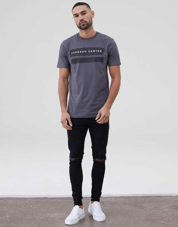 Paint Stripe T Shirt - Carbon